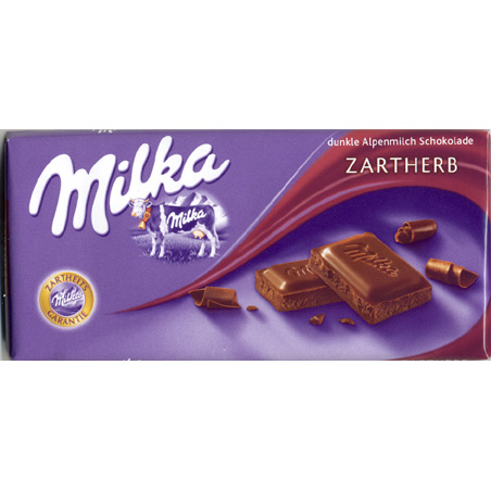 Milka chocolate bittersweet - Zartherb