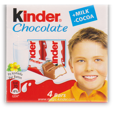 Kinder Chocolate - 4 Bars 50g
