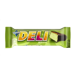 Deli chocolate bar with pistachios