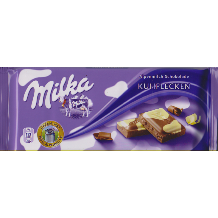 Milka  with white chocolate spots