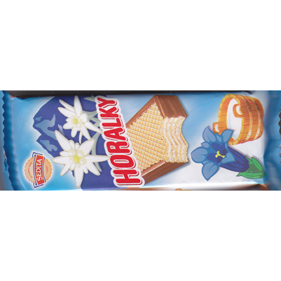 Horalky wafer with milk cream filling
