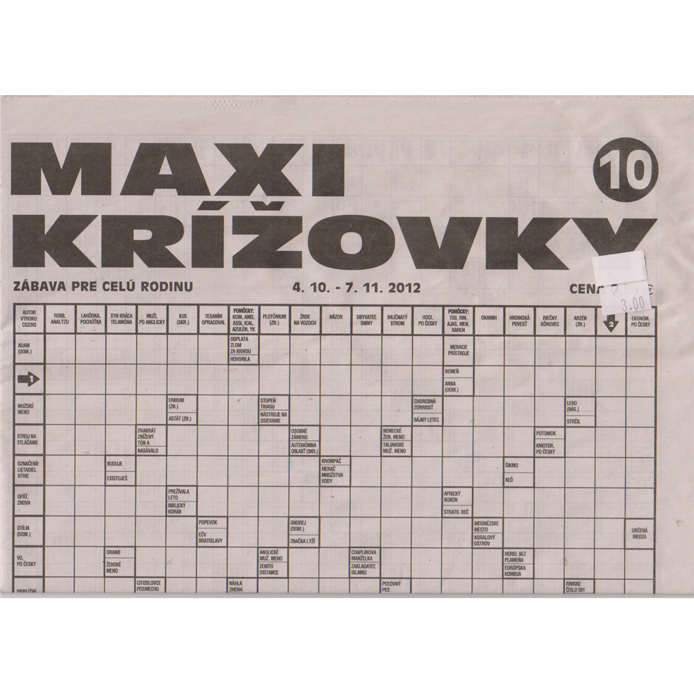 Krizovky - Maxi krizovky - 6 month subscription