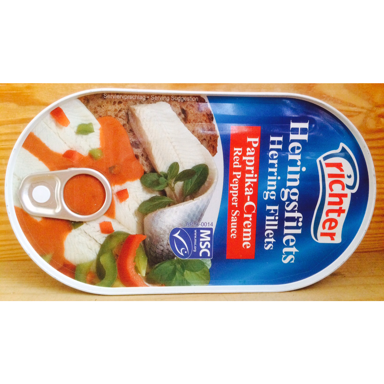 Herring Fillets in Red Pepper Sauce