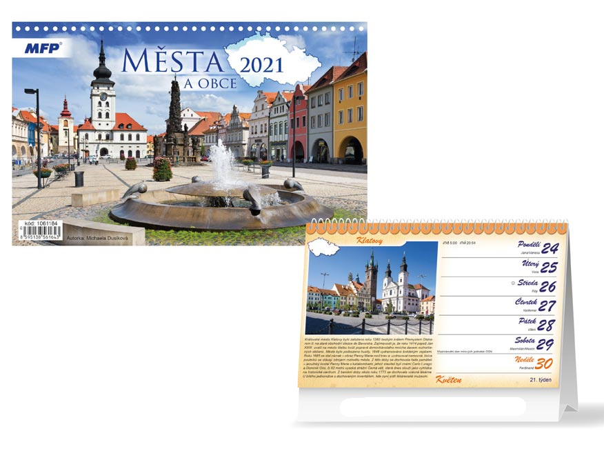 Cities and towns of the Czech Republic 2020 Calendar
