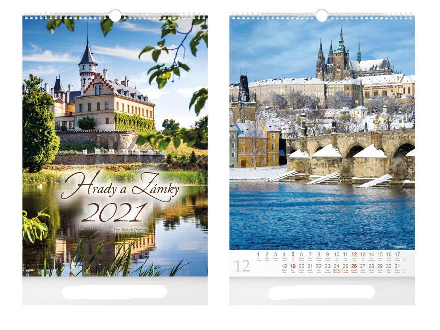 Castles and Chateaus wall calendar CZ 2019