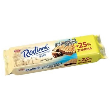 Biscuits dipped in milk chocolate Family Sedita