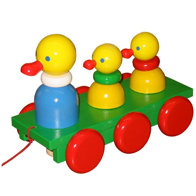 Three ducks on the ramp - pull toy