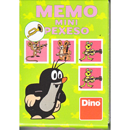 Memo mini Pexeso Little Mole - Musical Instruments