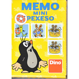 Memo mini Pexeso Little Mole - Swimming