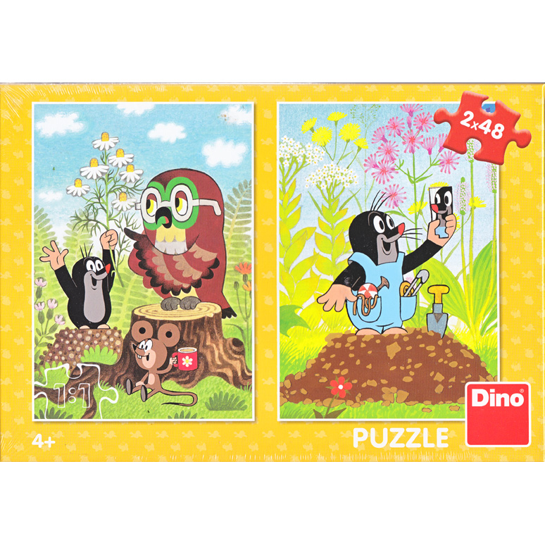 Puzzle Little Mole 2x48pcs Yellow