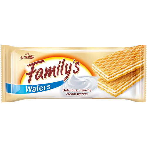 Family's wafers with milk cream filling 180g!