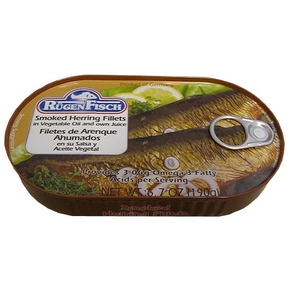 Herring Smoked Fillets in vegetable oil and own juice