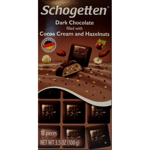 Chocolate Schogetten Dark with Hazelnuts