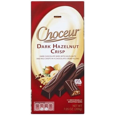 Chocolate Dark Hazelnut Crisp sticks German