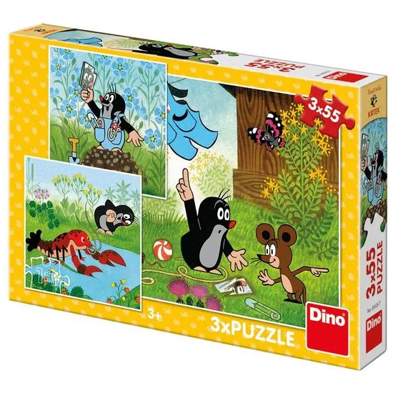 Puzzle Little Mole and pants 3x55pcs
