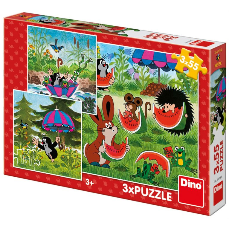 Puzzle Little Mole and umbrella 3x55pcs