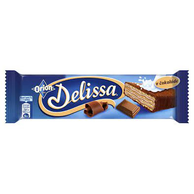 Delissa with milk cream in milk chocolate